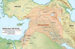 Middle East 738-722 BC Neo-Assyrian Empire (CC-BY 2014 ChrisR)