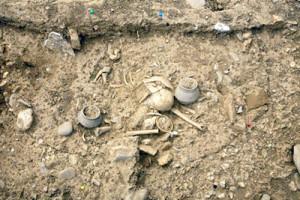 Merovingian grave in Borgharen (Universiteit Leiden)